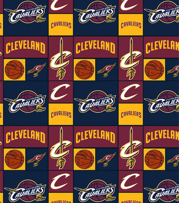 "Cleveland Cavaliers Cotton Fabric 44""-Patch"