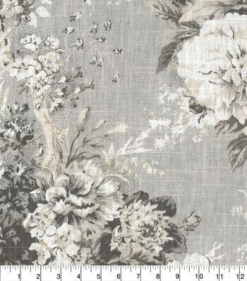 """Waverly® Designer Multi-Purpose Decor Fabric 54""""-Ballad Bouquet Platinum"""