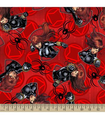 Marvel's The Avengers Print Fabric-Black Widow