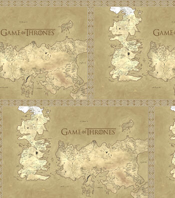 """Game Of Thrones Cotton Fabric 43""""-Map Of Westeros"""