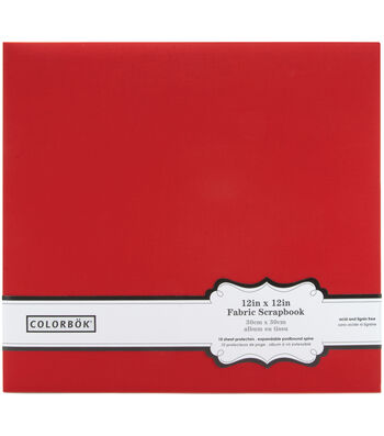 """Colorbok Fabric Albums 12""""X12""""-Teal"""