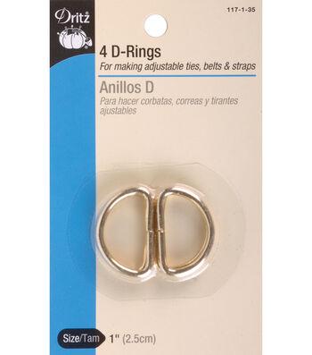 Dritz 1'' Metal ''D'' Rings 4pcs
