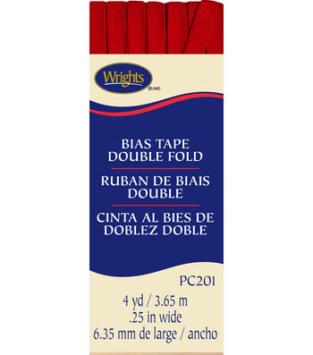 Double Fold Bias Tape 4yd Red