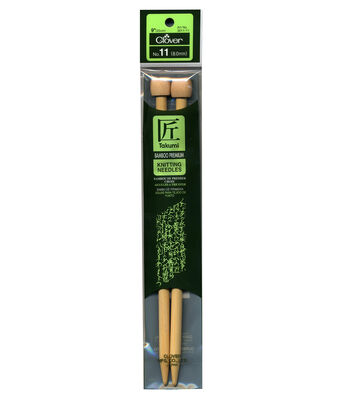 "Clover Bamboo Single Point Knitting Needles 9""-Size 11"