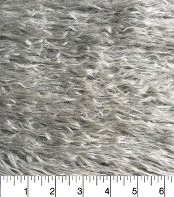 """Fashion Faux Fur Crinkle Fabric 58""""-Grey"""