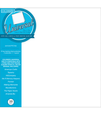 """Colorbok 12""""x12"""" Postbound Sheet Protectors"""