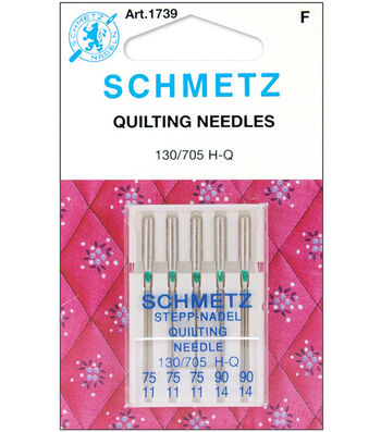 Schmetz Quilt Machine Needles 5pcs Sizes 75/11,90/14