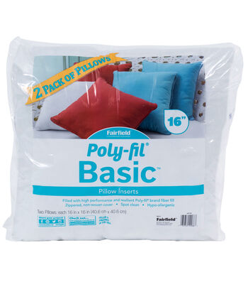 "Poly-Fil Basic 2PK 16""x16"" Pillow Inserts"