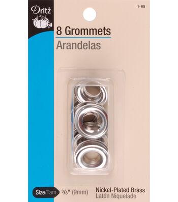 Dritz 0.38'' Grommets Brass 8pcs