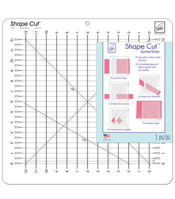June Tailor® Shape Cut™ 12''x12'' Slotted Ruler