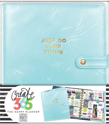 The Happy Planner Big Deluxe Cover Planner-Limpet Blue