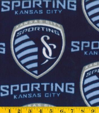 "Sporting Kansas City Fleece Fabric 58""-Logo"