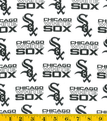 Chicago White Sox Cotton Fabric 58''-Tossed Print