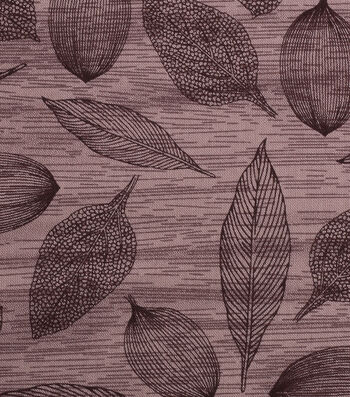 """Harvest Cotton Fabric 43""""-Tossed Modern Leaves"""