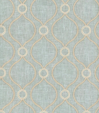 "P/K Lifestyles Solid Fabric 58""-Curveball Emb/Seaglass"
