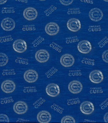 "Chicago Cubs Knit Fabric 60""-Foil Logo"