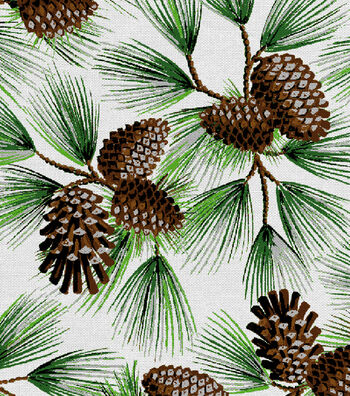 "Keepsake Calico™ Holiday Cotton Fabric 44""-Glitter Pine"