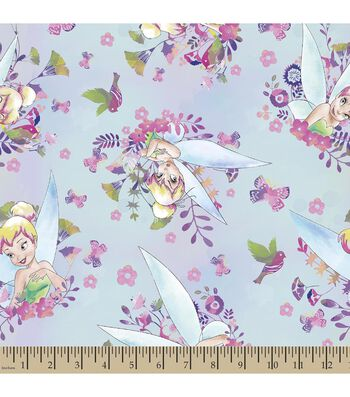 Disney® Fairies Tinkerbell Print Fabric-Watercolors