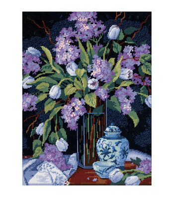 "Dimensions Tulips&Lilacs Needlepoint Kit-12""X16"" Stitched In Floss"