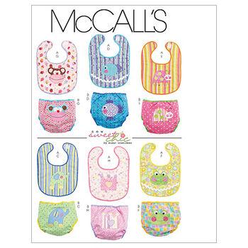 McCall's Pattern M6108 Bibs & Diaper Covers