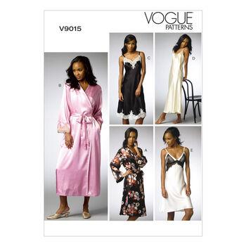 Vogue Patterns Misses Sleep & Lounge-V9015
