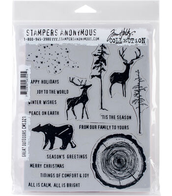 Stampers Anonymous® Tim Holtz® Cling Stamps-Great Outdoors