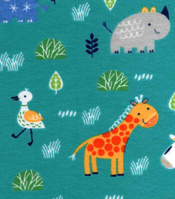 "Nursery Flannel Fabric 42""-Safari"