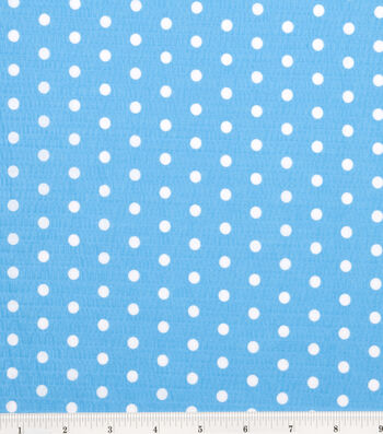 "Tutti Fruitti Fabric 44""-Polka Dot Turquoise and White"