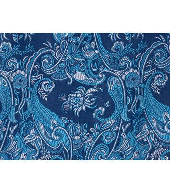 """Cosplay by Yaya Han Brocade Fabric 58""""-Navy"""