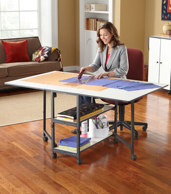 Sullivans Adjustable Home Hobby Table