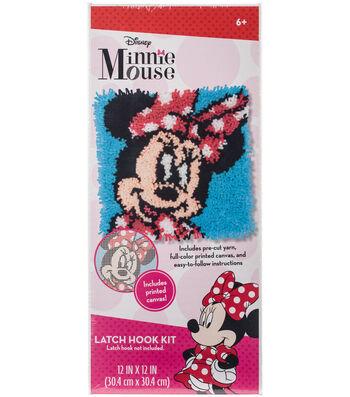"Disney Latch Hook Kit 12""X12""-Minnie Mouse"