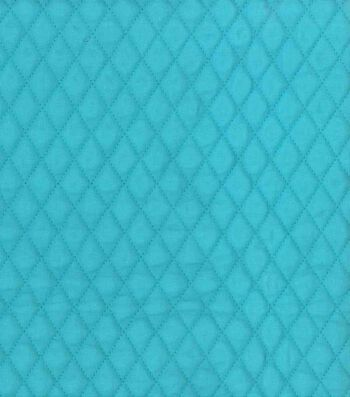 "Double Faced Quilted Fabric 42""-Teal Diamond"