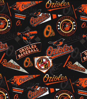 Baltimore Orioles Vintage Cotton Fabric 58''-Vintage