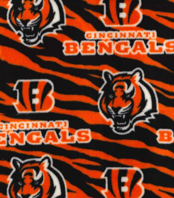 "Cincinnati Bengals Fleece Fabric 59""-Striped"