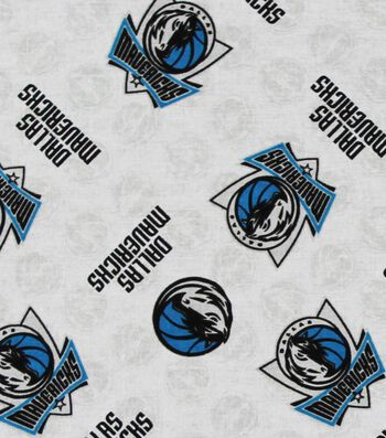 "Dallas Mavericks Cotton Fabric 44""-Logo Toss"