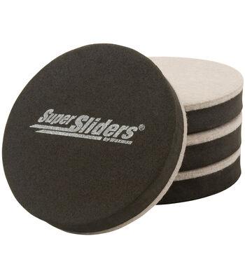 "Super Sliders 3.5"" 4 Count-Round Felt Bottom"
