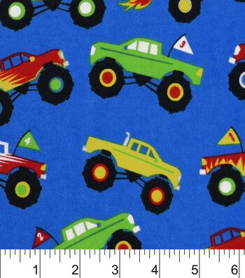 "Snuggle Flannel Fabric 42""-Monster Trucks"