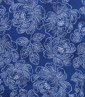 """Keepsake Calico™ Cotton Fabric 43""""-Yellow Blue Dotted Floral"""