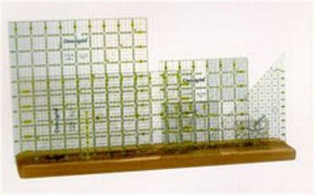 "Omnigrid Wooden Ruler Rack-20""x4""x3/4"""