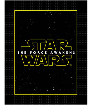"Star Wars™ VII No Sew Fleece Throw 48""-The Force Awakens Logo"