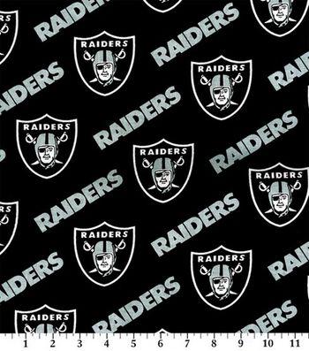 "Oakland Raiders Cotton Fabric 58""-Block"