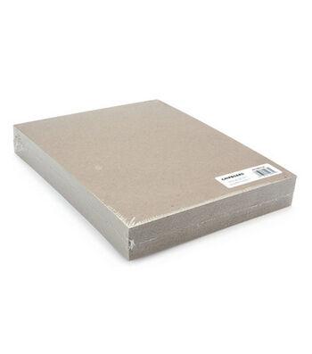 """Grafix 8-1/2""""x11"""" Medium Weight Chipboard Sheets-25PK/Natural"""