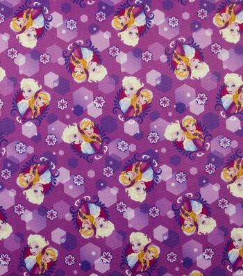 "Disney Frozen Jersey Fabric 59""-Anna and Elsa Sparkle"