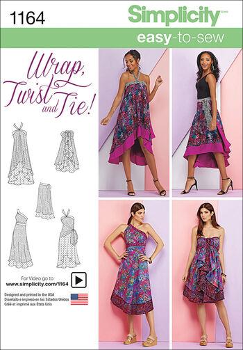 Simplicity Pattern 1164A Xs-S-M-L-X-Skirts & Pants