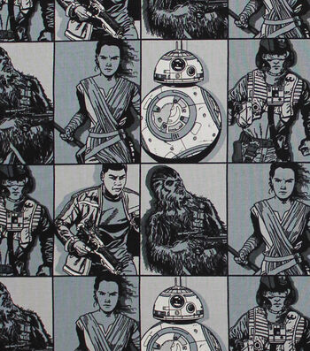 """Star Wars™: The Force Awakens Cotton Fabric 44""""-Hero Squares"""