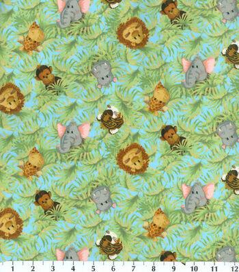 "Nursery Flannel Fabric 42""-Tossed Babies"