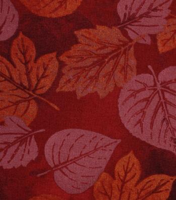 "Harvest Cotton Fabric 43""-Tonal Leaves"