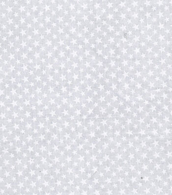 "Patriotic Cotton Fabric 43""-White Stars"