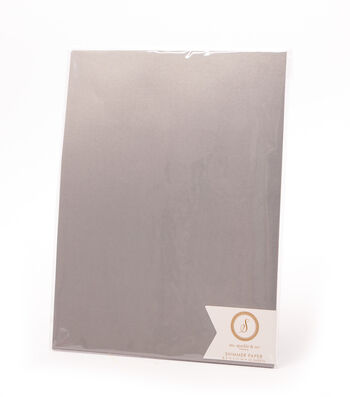 Ms. Sparkle & Co. Pack of 12 8.5''x11'' Shimmer Papers-Dark Gray