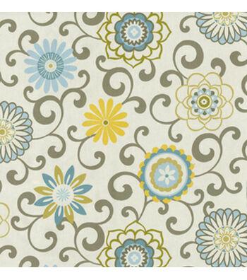 """Waverly Upholstery Fabric 54""""-Pom Pom Play Spa"""